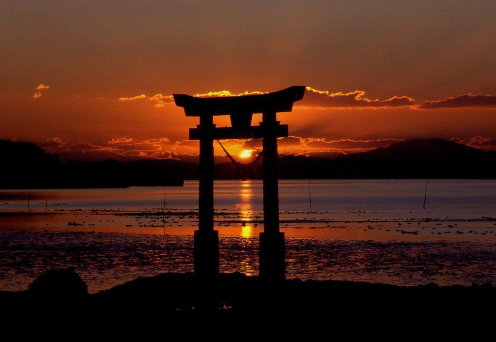tramonti Giappone suggestivi